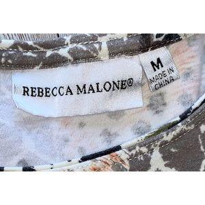 Rebecca Malone Tops - Rebecca Malone Animal print 3/4 sleeve top